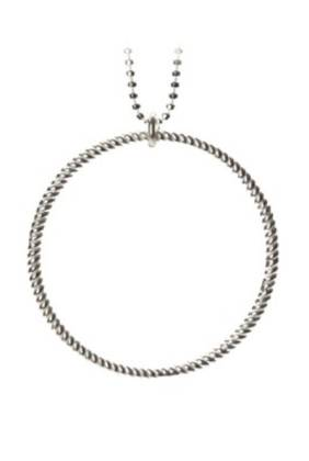 Big Twisted Necklace Silver