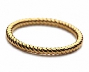 Twisted Ring Gold Plated