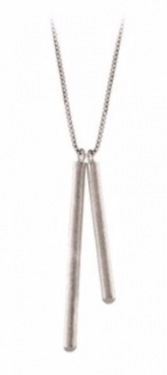 Sticks Necklace Silver