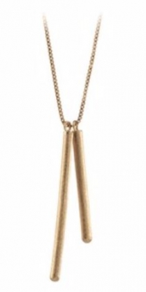 Sticks Necklace Gold Plated