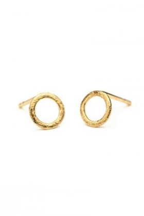 Single Circle Earstick Gold Plated