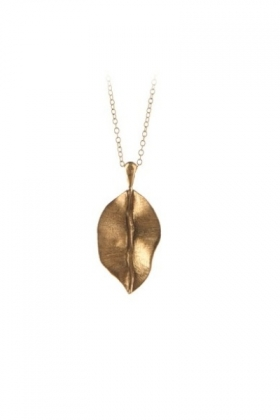 Leaf Necklace Gold Plated