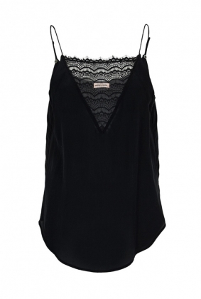 ELVIRA TOP, BLACK