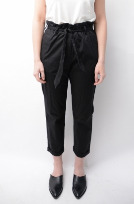 Madelin Cotton Pants Anthracite Black
