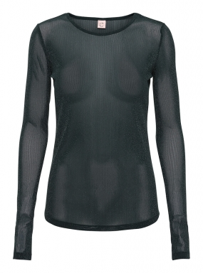 Carla Blouse, Anthracite Black