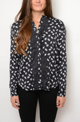 Fria Blouse, Anthracite Black