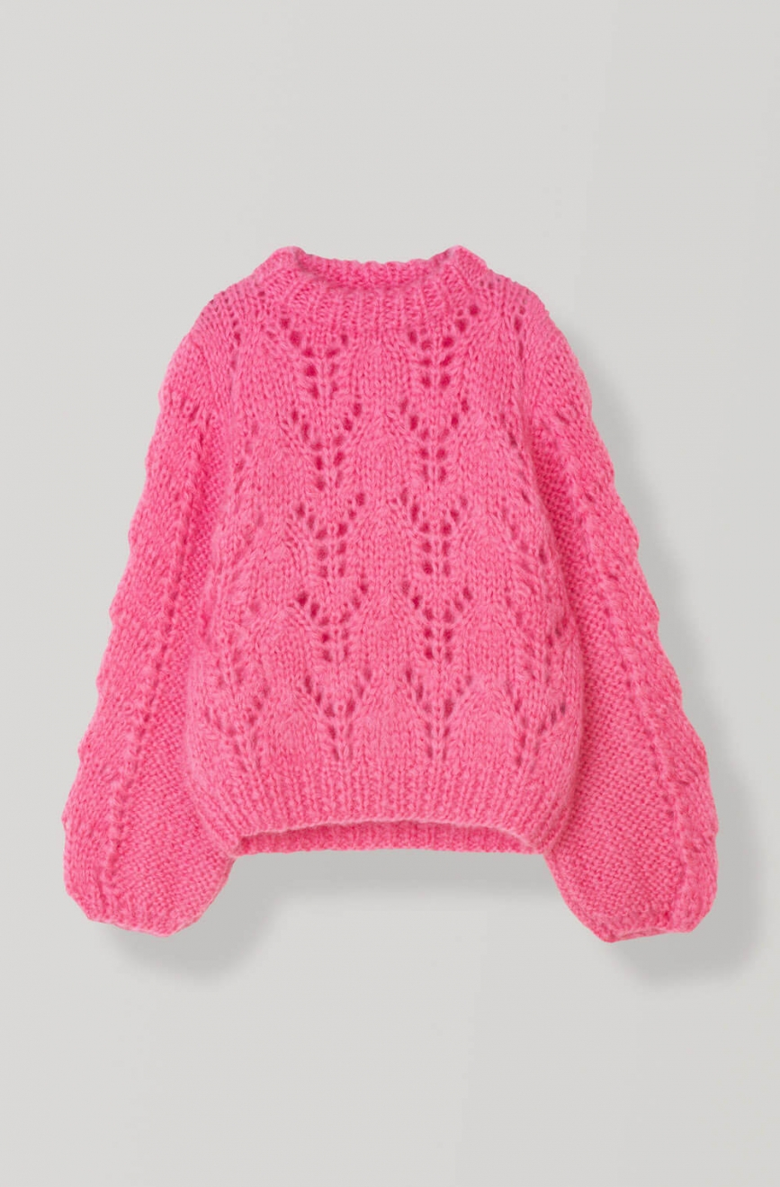 528172d7 GANNI | The Julliard Mohair Sweater, Hot Pink | Sweaters & card