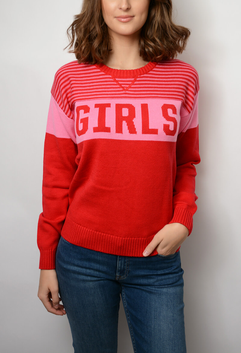 Gant Girls Crew Pink Embrace Sweaters Cardigans For He
