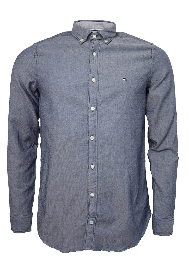 5efcca78 Slim Two Tone Dobby Shirt, Dark Blue in the group For him / CHRISTMAS GIFTS