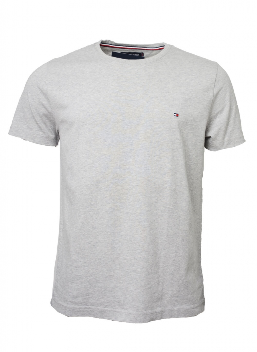 TOMMY HILFIGER HERR | Essential Cotton Tee, Cloud HTR | T shirt
