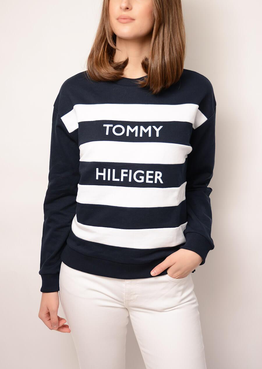 509ffe20 TOMMY HILFIGER | Kendra C-nk Sweatshirt LS, Midnight/Clear Whit