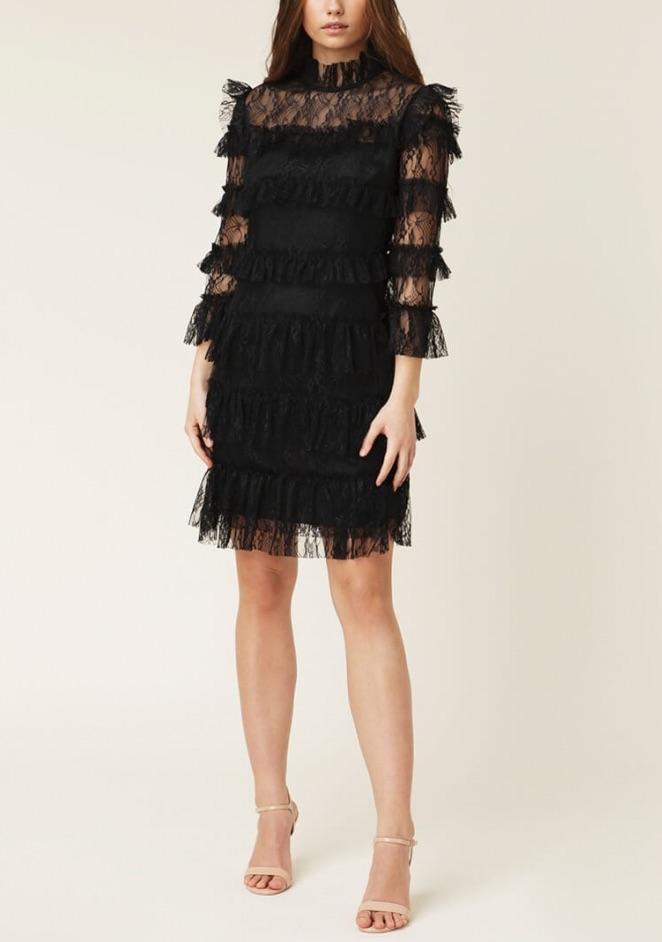 BY MALINA | Carmine Mini Dress, Black | Klänningar Dam | Elin