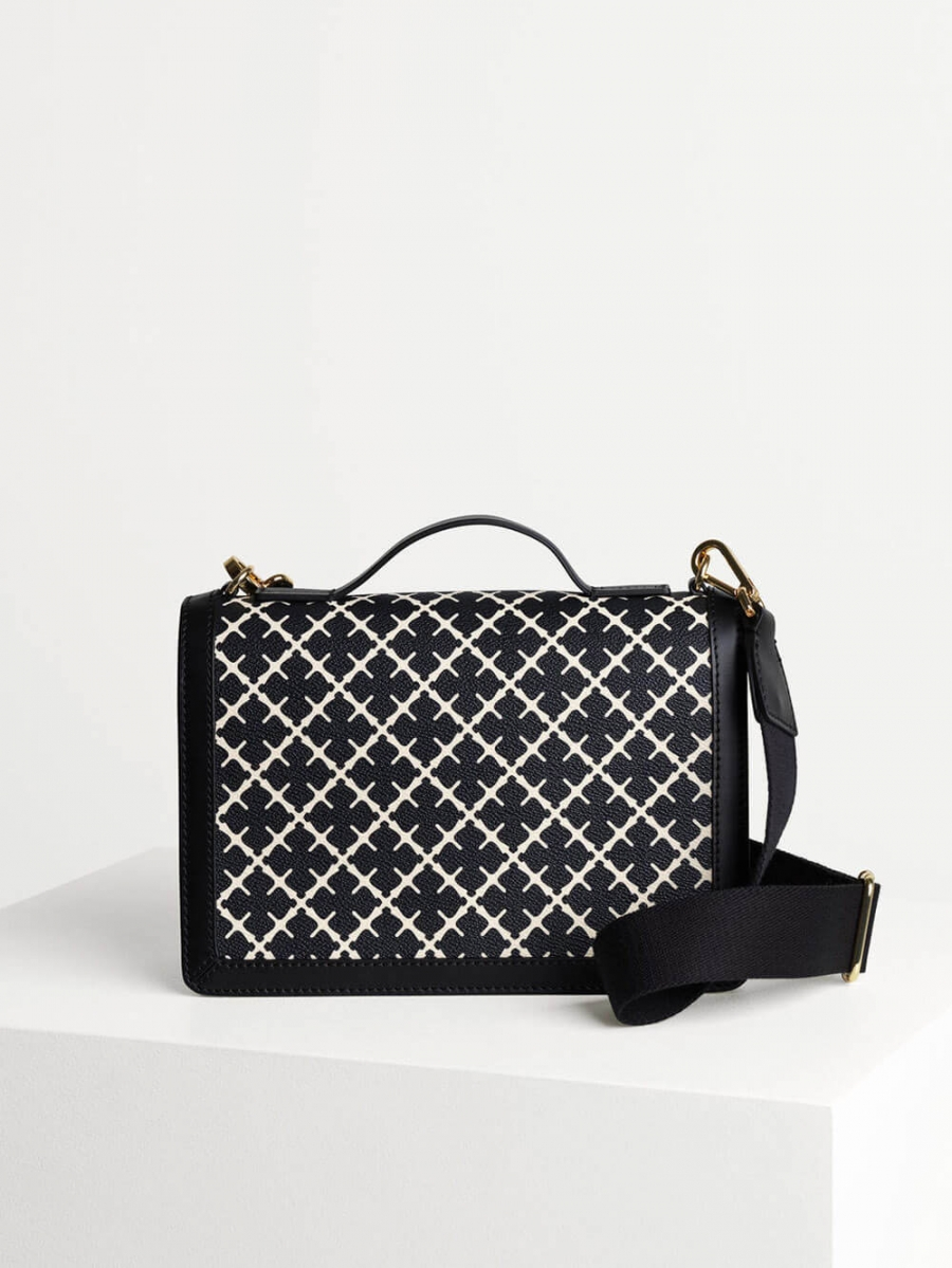 Loenna Bag, Black & Cream