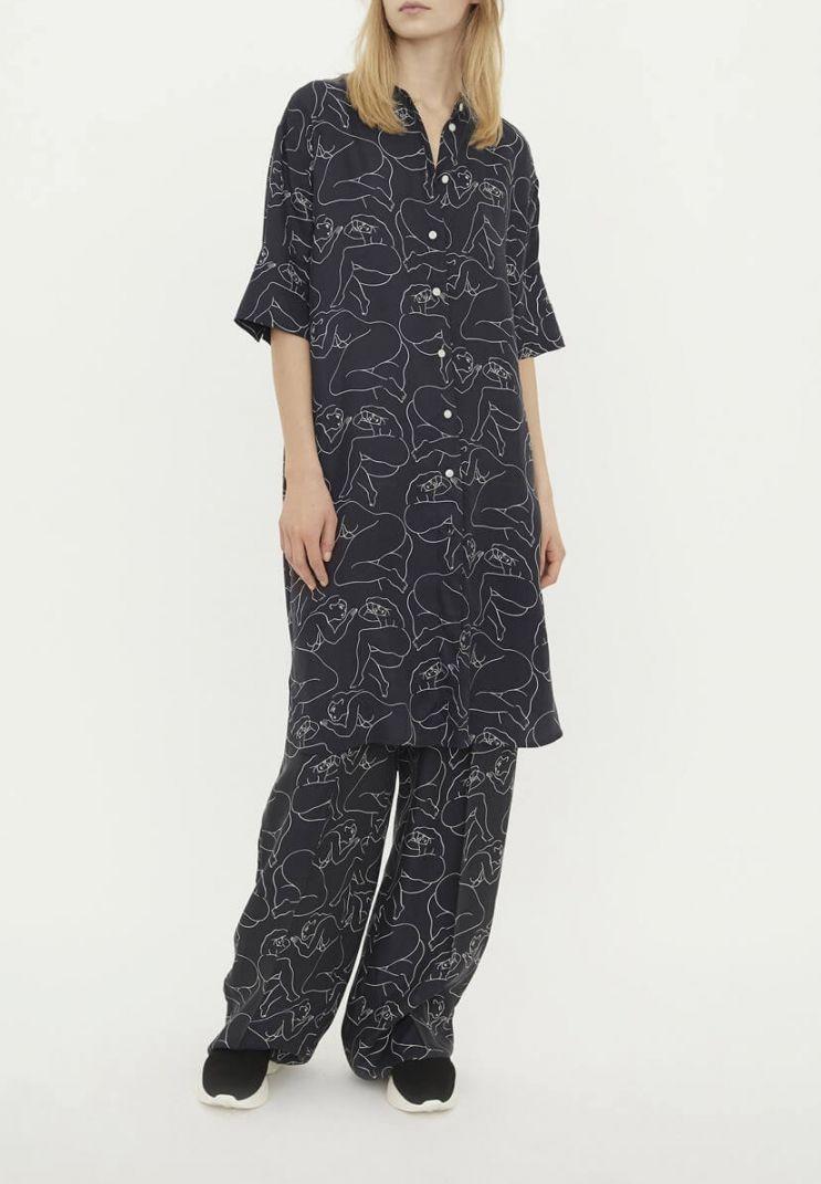 e3c72c1b0718 BY MALENE BIRGER | Printed Dress, Black | Klänningar - Dam | El